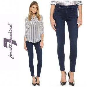 7 For All Mankind Slim Illusion  Mid Rise Jeans